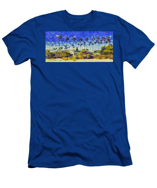 Alameda Famous Burbank Palm Trees Men's T-Shirt (Athletic Fit)