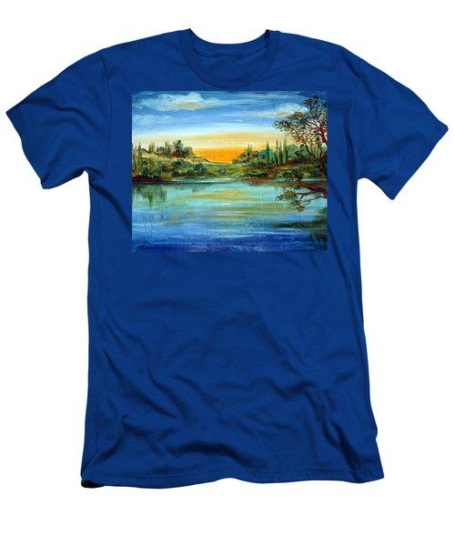 Alba Sul Lago Men's T-Shirt (Athletic Fit)