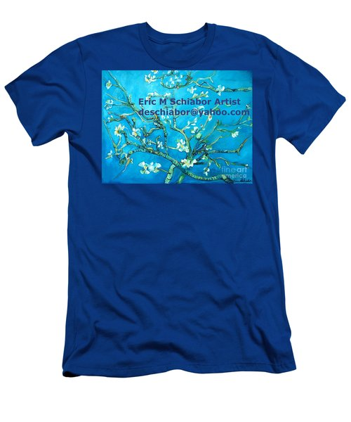 Almond Blossom Branches Men's T-Shirt (Athletic Fit)