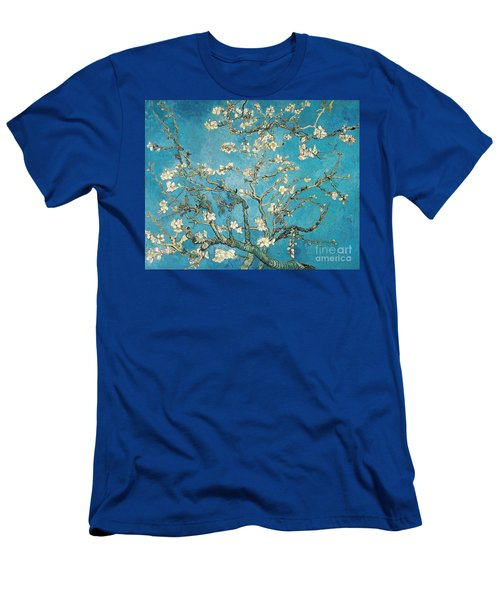 Almond Branches In Bloom Men's T-Shirt (Athletic Fit)