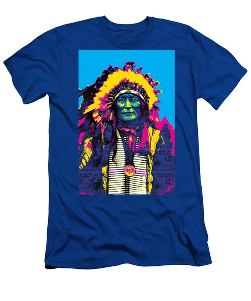 American Indian Chief Men's T-Shirt (Athletic Fit)