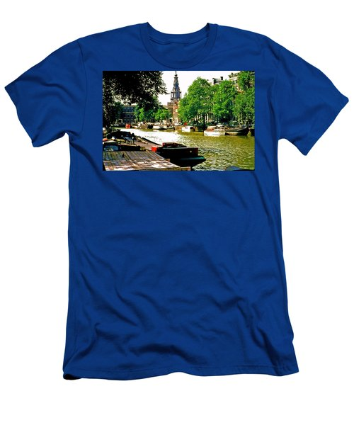 Men's T-Shirt (Slim Fit) featuring the photograph Amsterdam by Ira Shander