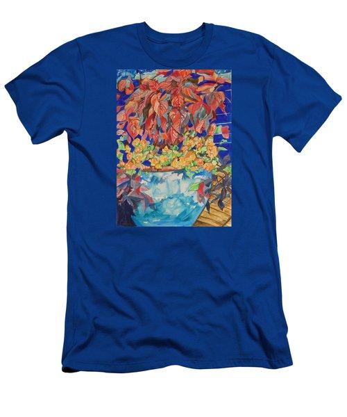 An Autumn Floral Men's T-Shirt (Slim Fit) by Esther Newman-Cohen