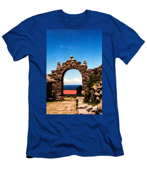 Men's T-Shirt (Slim Fit) featuring the photograph Ancient Portal by Suzanne Luft