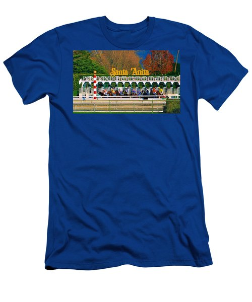 And They're Off At Santa Anita Men's T-Shirt (Athletic Fit)