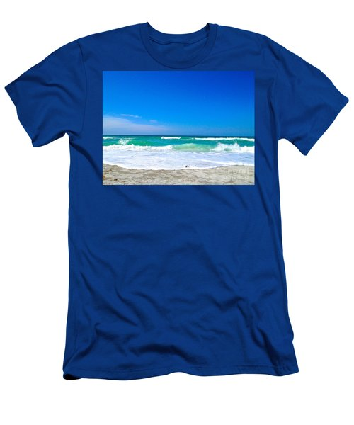 Men's T-Shirt (Slim Fit) featuring the photograph Aqua Surf by Margie Amberge
