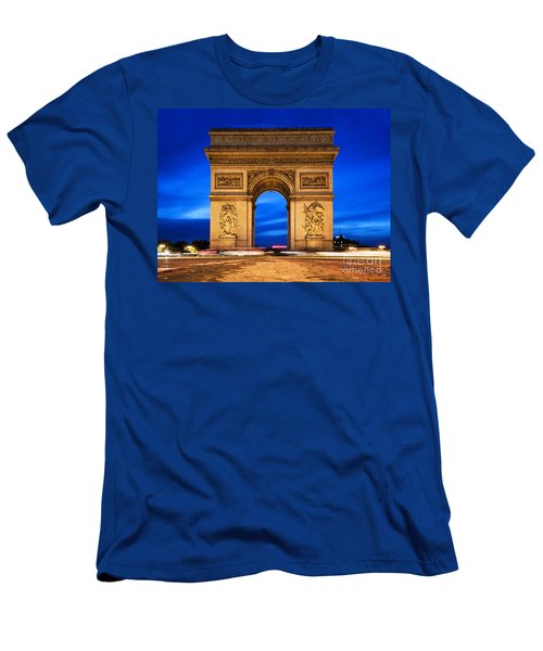 Arc De Triomphe At Night Paris France  Men's T-Shirt (Athletic Fit)