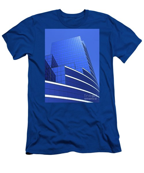Men's T-Shirt (Slim Fit) featuring the photograph Architectural Blues by Ann Horn