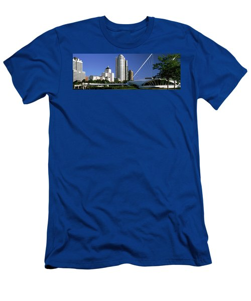 Art Museum With Skyscrapers Men's T-Shirt (Athletic Fit)