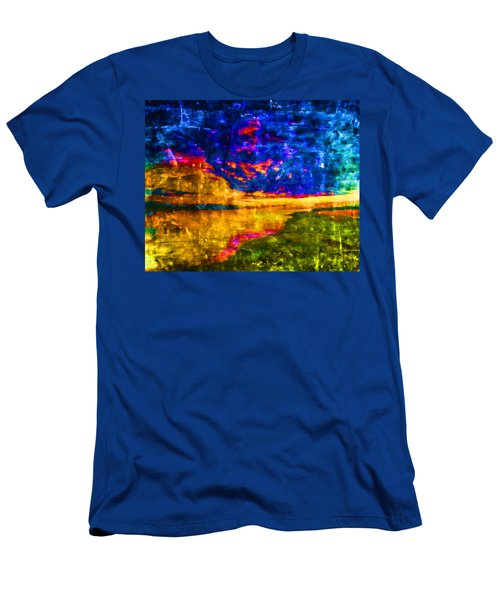 Men's T-Shirt (Slim Fit) featuring the painting As The World Ends by Joe Misrasi