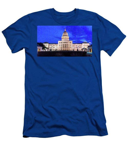 Austin State Capitol Building, Texas - Men's T-Shirt (Athletic Fit)