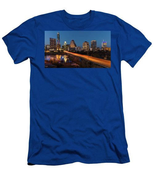 Austin, Texas Cityscape Evening Skyline Men's T-Shirt (Athletic Fit)