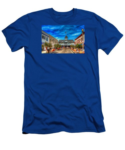Men's T-Shirt (Slim Fit) featuring the photograph Balboa Pavilion by Jim Carrell