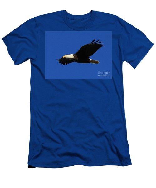 Men's T-Shirt (Slim Fit) featuring the photograph Bald Eagle Lock 14 by Paula Guttilla