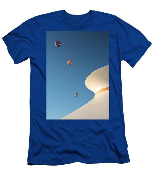 Balloons Race Over The Planetarium Men's T-Shirt (Athletic Fit)