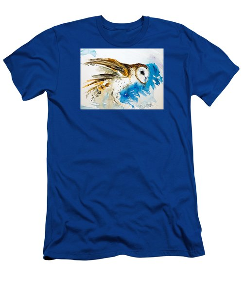 Da145 Barn Owl Ruffled Daniel Adams Men's T-Shirt (Athletic Fit)