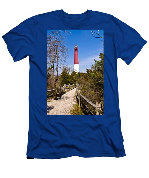 Barnegat Lighthouse II Men's T-Shirt (Slim Fit) by Anthony Sacco