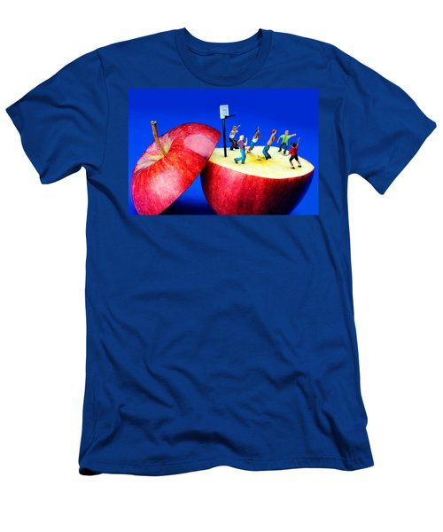 Basketball Games On The Apple Little People On Food Men's T-Shirt (Athletic Fit)
