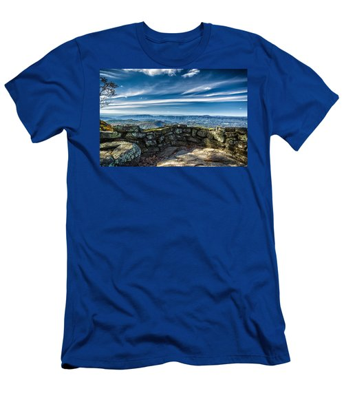 Beautiful View Of Mountains And Sky Men's T-Shirt (Athletic Fit)