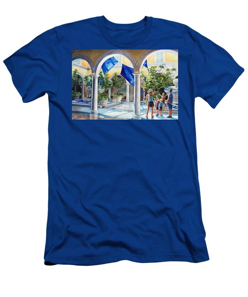 Bellagio Kite Flight Men's T-Shirt (Athletic Fit)