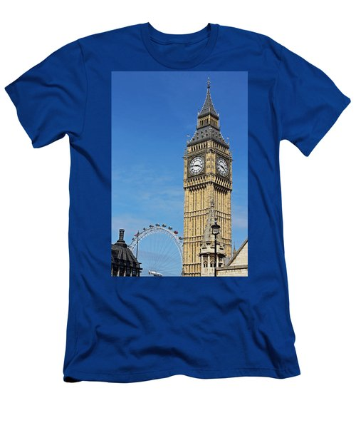 Big Ben And London Eye Men's T-Shirt (Athletic Fit)
