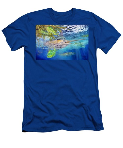 Big Blue Hunting In The Weeds Men's T-Shirt (Athletic Fit)