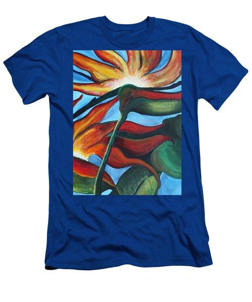 Bird Of Paradise Men's T-Shirt (Slim Fit) by Jolanta Anna Karolska