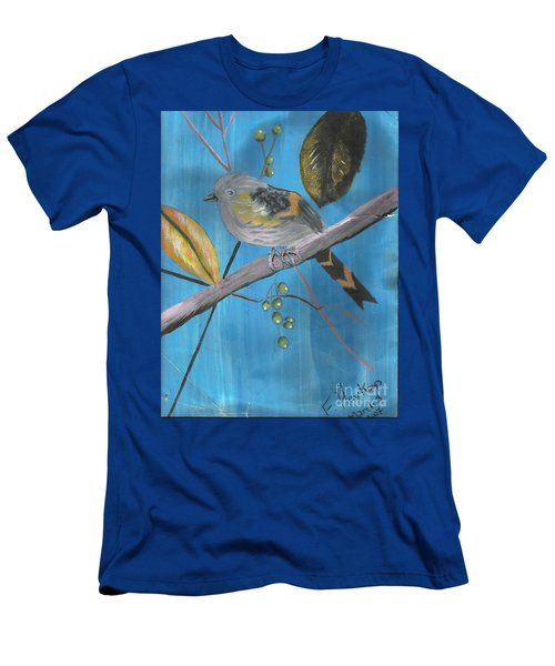 Bird On A Branch  Men's T-Shirt (Slim Fit)