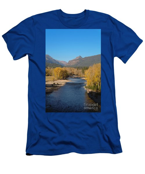 Bitterroot River Fall Men's T-Shirt (Athletic Fit)