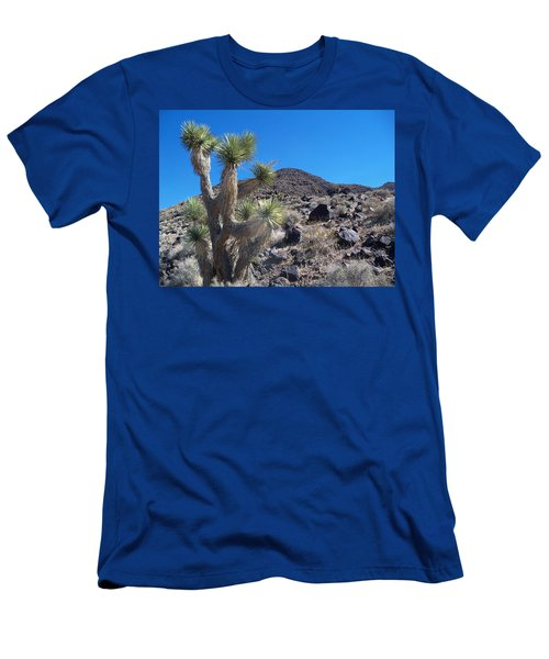 Men's T-Shirt (Slim Fit) featuring the photograph Black Mountain Yucca by Alan Socolik
