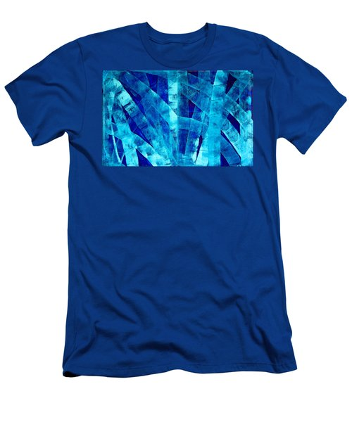 Blue Abstract Art - Paths - By Sharon Cummings Men's T-Shirt (Athletic Fit)