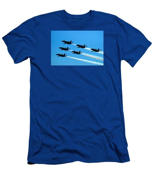 Blue Angels The Need For Speed Men's T-Shirt (Slim Fit) by James Kirkikis