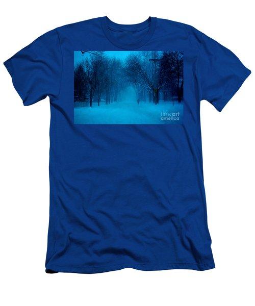 Blue Chicago Blizzard  Men's T-Shirt (Athletic Fit)