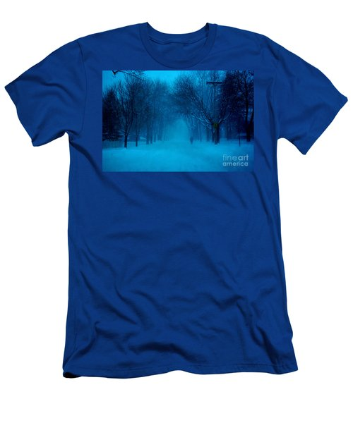 Blue Chicago Blizzard  Men's T-Shirt (Athletic Fit)