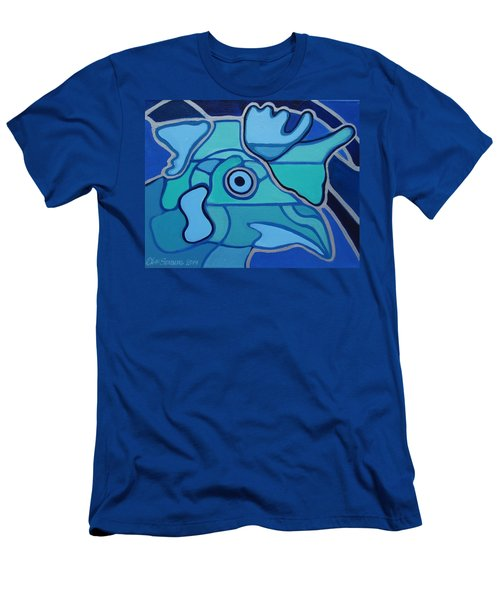 Blue Chicken Abstract Men's T-Shirt (Athletic Fit)