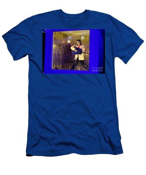 Blue Christmas Without Elvis Men's T-Shirt (Athletic Fit)