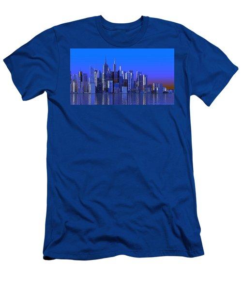 Chicago Blue City Men's T-Shirt (Athletic Fit)