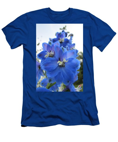Blue Delphinium Rising Men's T-Shirt (Athletic Fit)