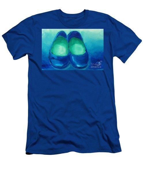 Blue Flats Men's T-Shirt (Slim Fit) by Marisela Mungia