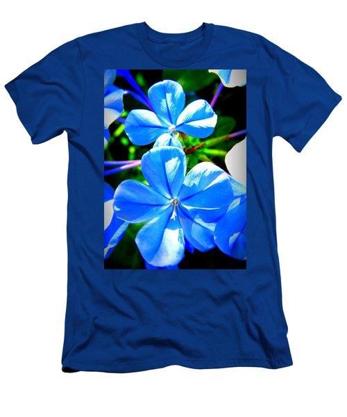 Men's T-Shirt (Slim Fit) featuring the photograph Blue Flower by David Mckinney