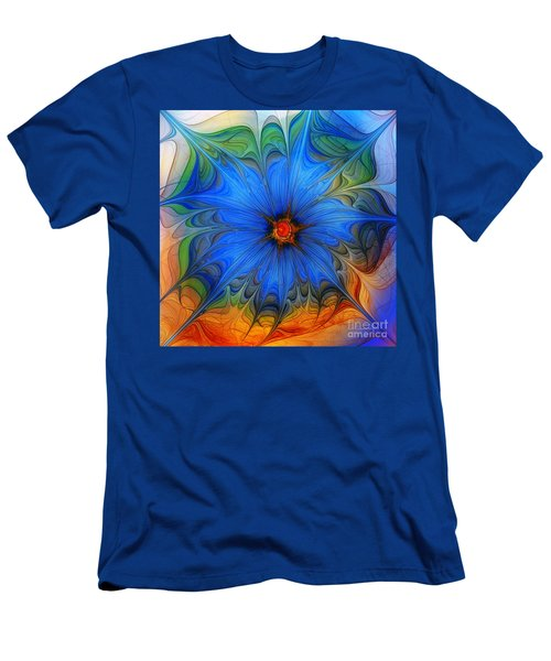 Blue Flower Dressed For Summer Men's T-Shirt (Athletic Fit)