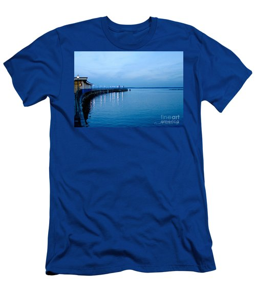 Blue Light Horizon Men's T-Shirt (Slim Fit) by Carol F Austin