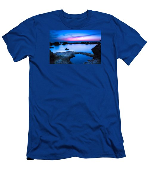 Men's T-Shirt (Slim Fit) featuring the photograph Blue Hour by Edgar Laureano