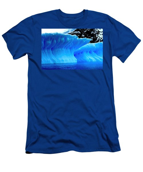 Blue Iceberg Men's T-Shirt (Slim Fit) by Amanda Stadther