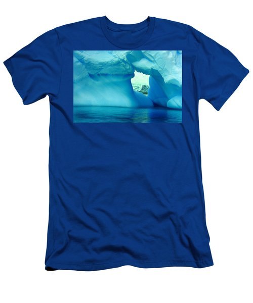 Blue Iceberg Antarctica Men's T-Shirt (Slim Fit) by Amanda Stadther