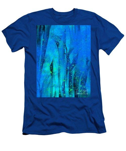 Feeling Blue Men's T-Shirt (Slim Fit) by Yul Olaivar