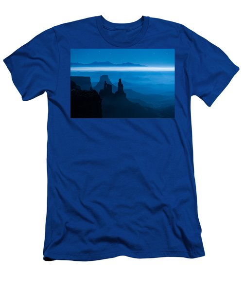 Men's T-Shirt (Athletic Fit) featuring the photograph Blue Moon Mesa by Dustin  LeFevre