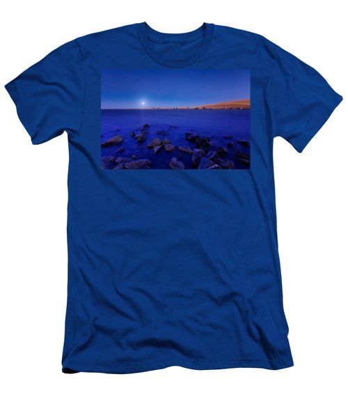 Blue Moon On The Rocks Men's T-Shirt (Athletic Fit)