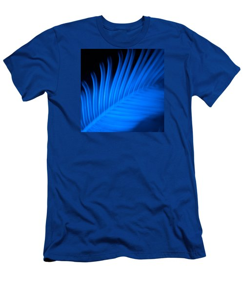 Men's T-Shirt (Slim Fit) featuring the photograph Blue Palm by Darryl Dalton