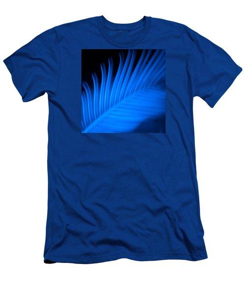 Blue Palm Men's T-Shirt (Slim Fit) by Darryl Dalton